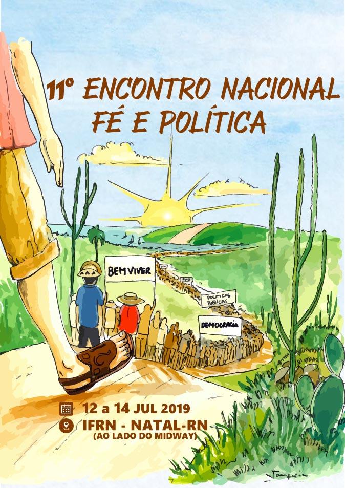 Banner oficial do 11 Encontro Nacional de Fé e política