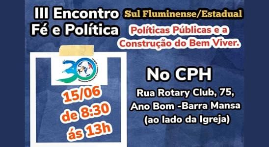 convite para o terceiro encontro estadual no rj
