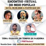 Encontro virtual do meio popular