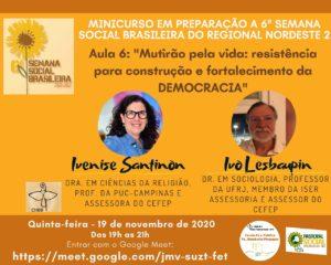 """""""Mutirão pela Vida: resistência para construção e fortalecimento da DEMOCRACIA"""""""