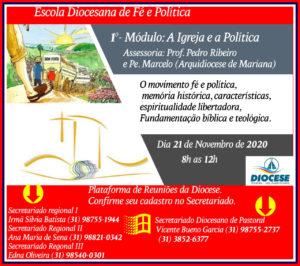 Escola Diocesana de Fé e Política da diocese Coronel Fabriciano-Itabira