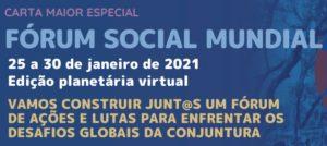 Vamos construir juntos e juntas o próximo Fórum Social Mundial – Virtual